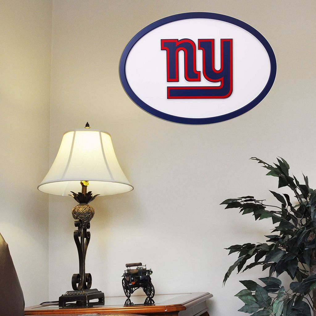 New York Giants 31-inch Carved Wall Art
