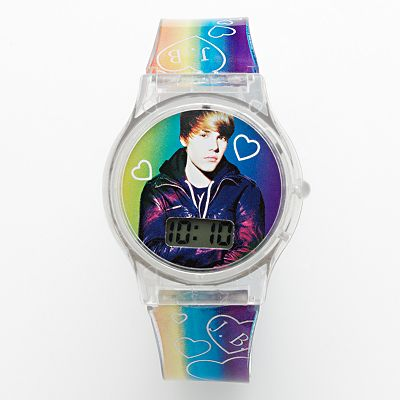 Justin Bieber Rainbow Digital Watch - Kids