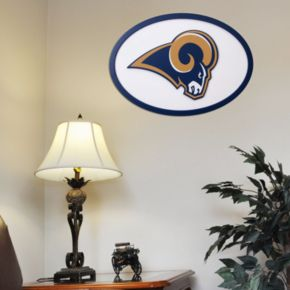 Los Angeles Rams 31-inch Carved Wall Art