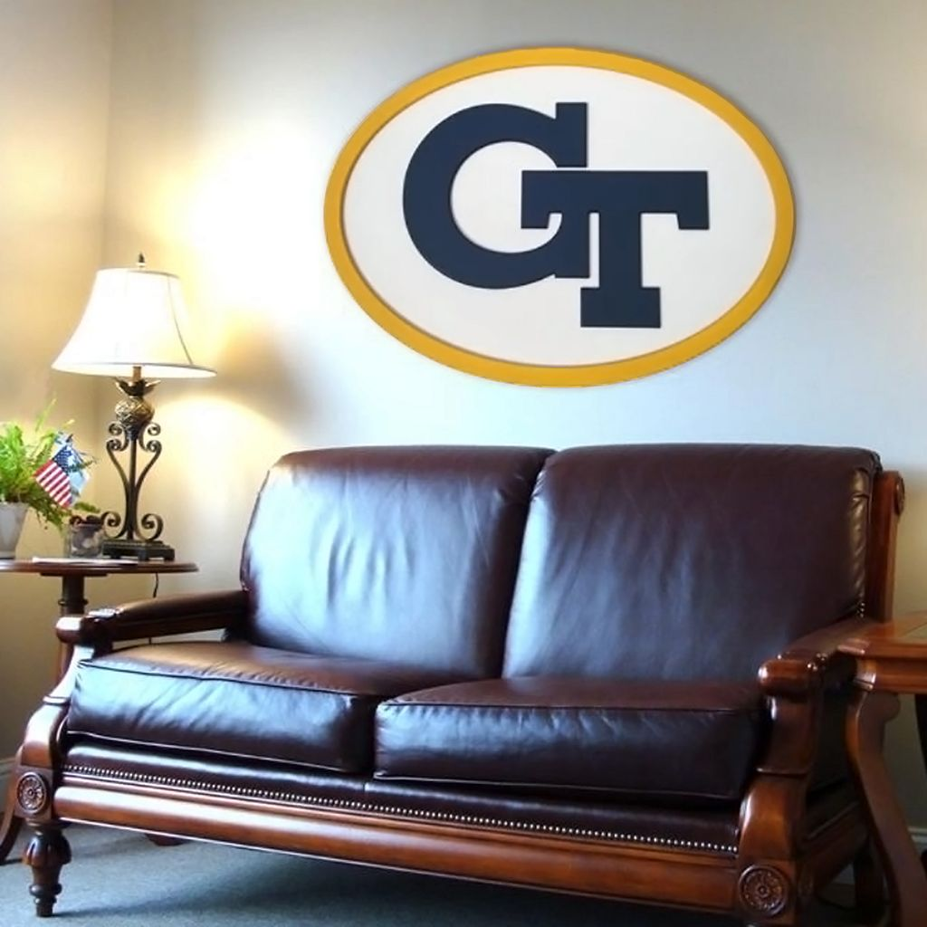 Georgia Tech Yellow Jackets 46-inch Carved Wall Art