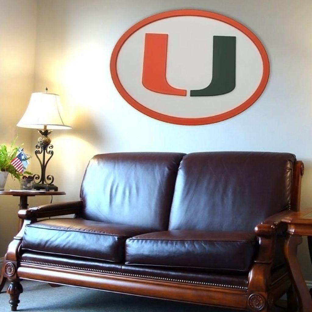 Miami Hurricanes 46-inch Carved Wall Art