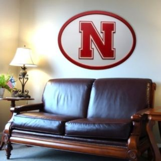 Nebraska Cornhuskers 46-inch Carved Wall Art