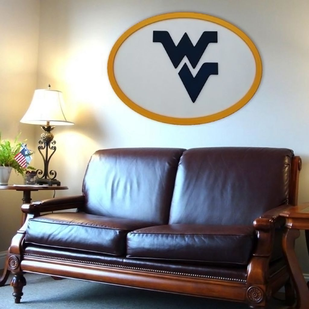 West Virginia Mountaineers 46-inch Carved Wall Art