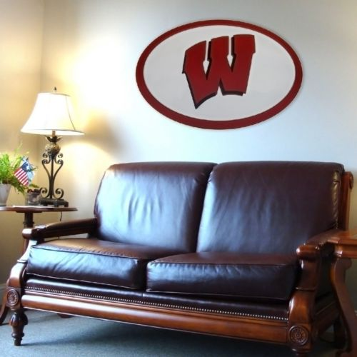 Wisconsin Badgers 46-inch Carved Wall Art