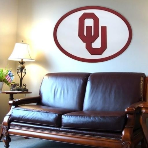 Oklahoma Sooners 46-inch Carved Wall Art