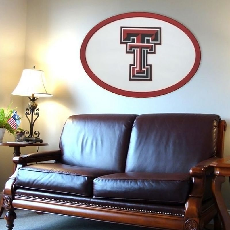 Texas Tech Red Raiders 46-inch Carved Wall Art