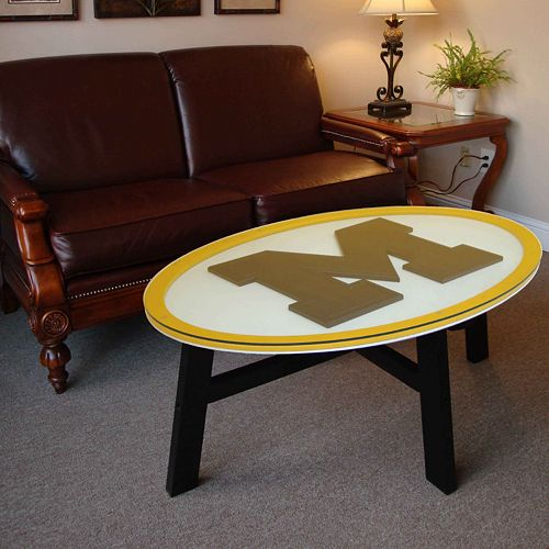 Astonishing Michigan Wolverines Coffee Table Gmtry Best Dining Table And Chair Ideas Images Gmtryco