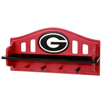 Georgia Bulldogs Wooden Shelf
