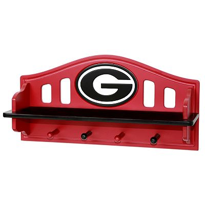 Georgia Bulldogs Wooden Shelf