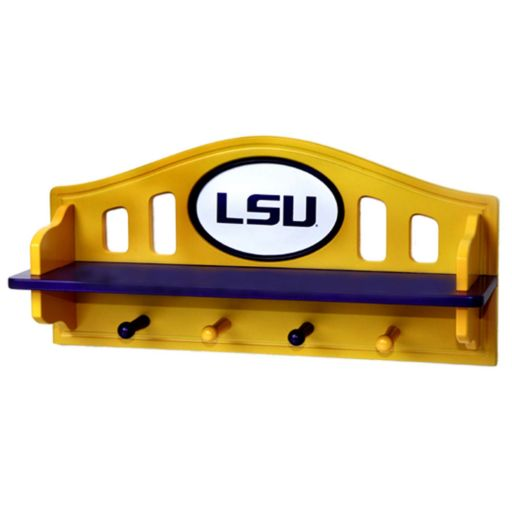 LSU Tigers Wooden Shelf