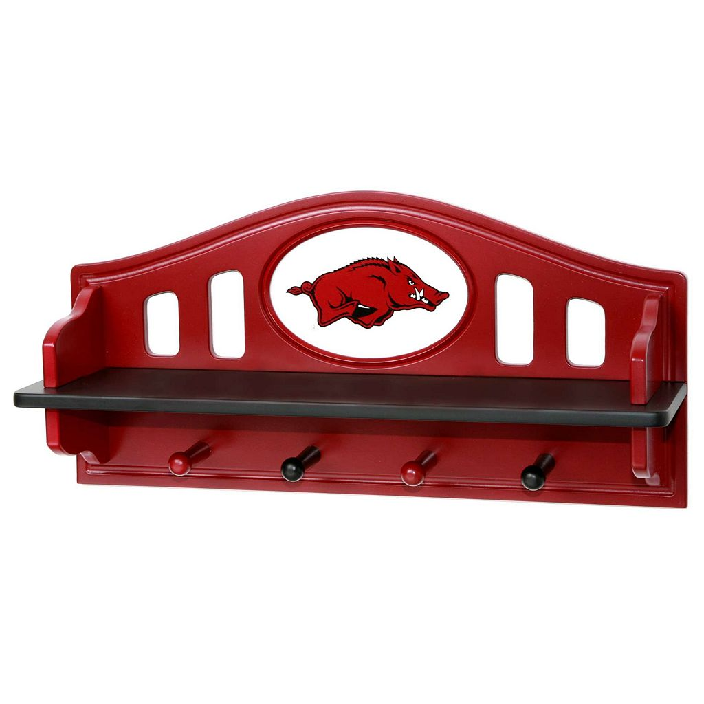 Arkansas Razorbacks Wooden Shelf