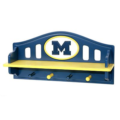 Michigan Wolverines Wooden Shelf
