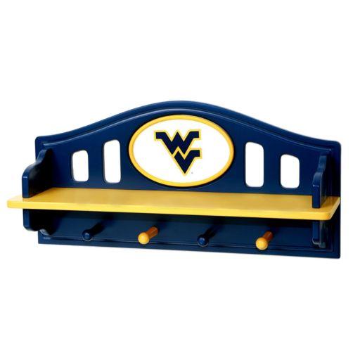 West Virginia Mountaineers Wooden Shelf