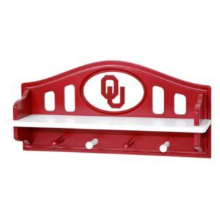 Oklahoma Sooners Wooden Shelf