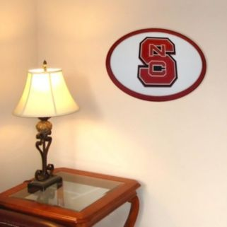 North Carolina State Wolfpack 31-inch Carved Wall Art