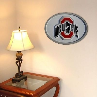 Ohio State Buckeyes 31-inch Carved Wall Art