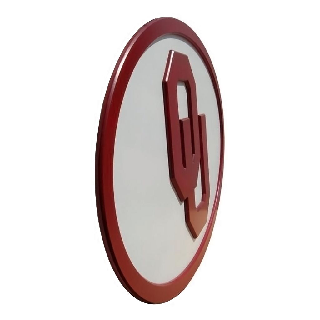 Oklahoma Sooners 31-inch Carved Wall Art