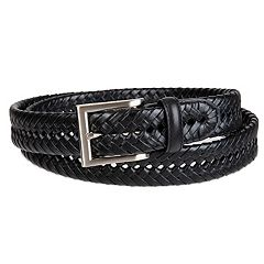 Croft & Barrow® Basket Weave Faux-Leather Belt