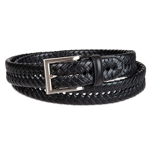 Croft & Barrow® Basket Weave Faux-Leather Belt