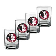 Florida State Seminoles 4-pc. Rocks Glass Set