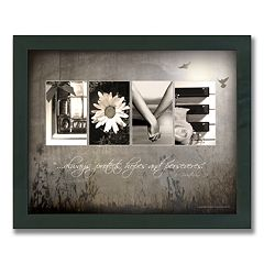 'Love Letters' Framed Canvas Art