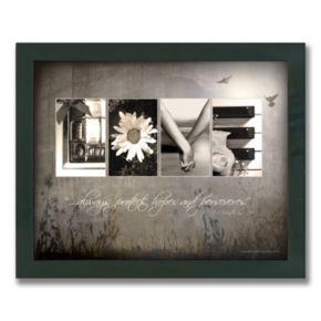 Love Letters Framed Canvas Art
