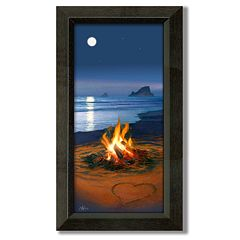 'Evening in Paradise' Framed Canvas Art