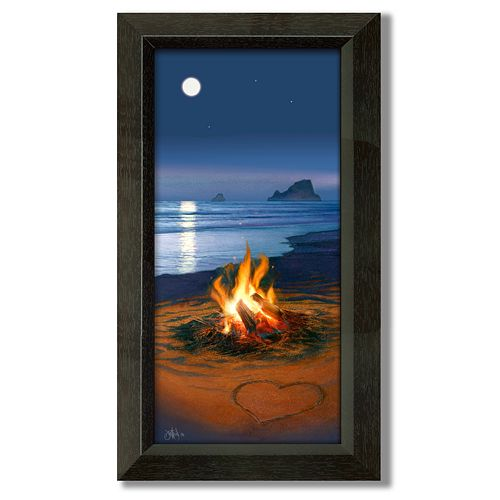 """""""Evening in Paradise"""" Framed Canvas Art"""