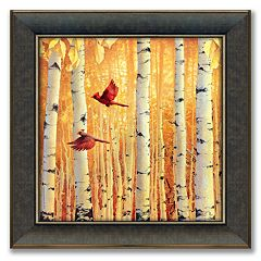 'Cardinals' 23.5' x 23.5' Framed Canvas Art