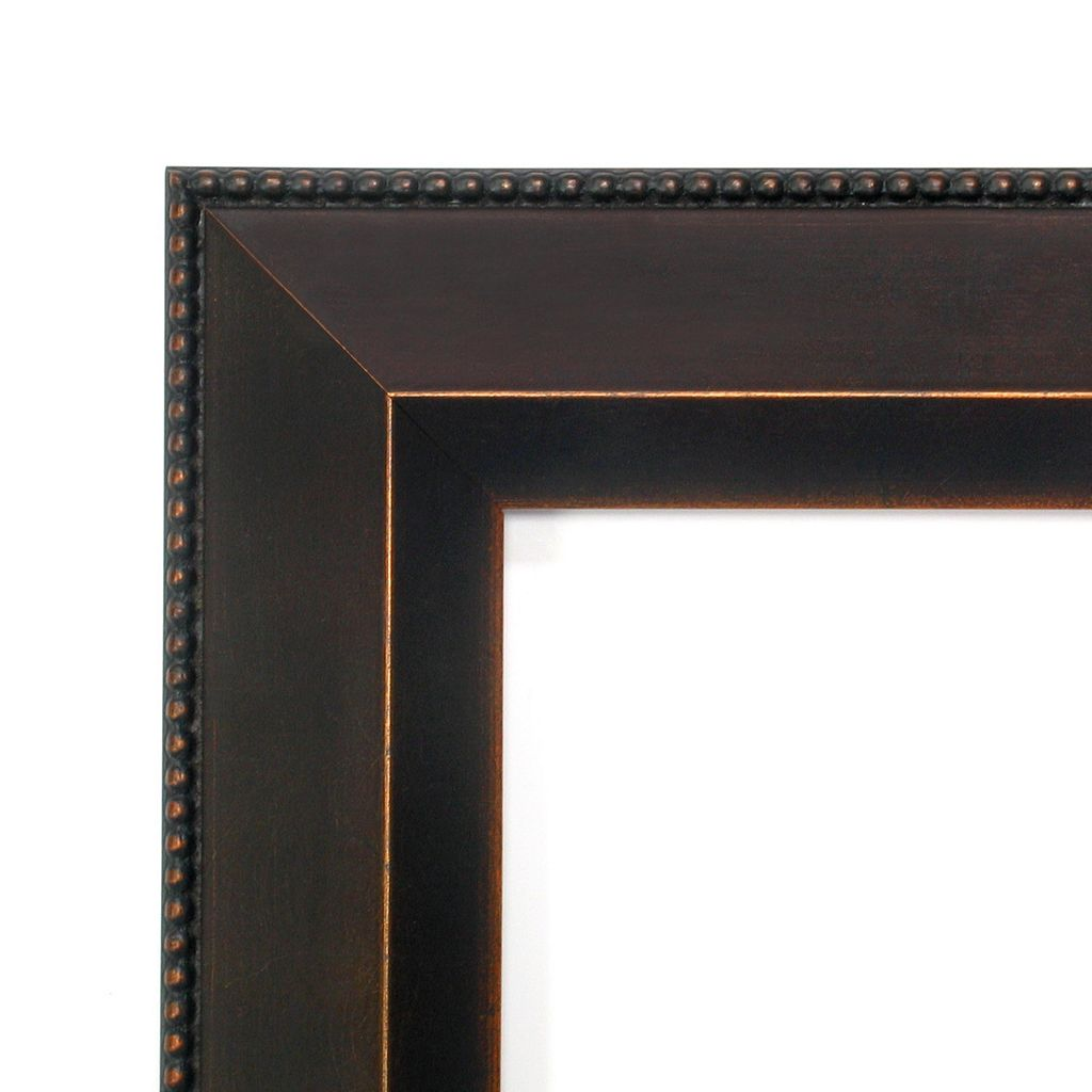 Amanti Art Signore Bronze-Tone Traditional Wood Square Wall Mirror