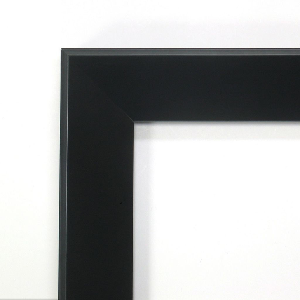 Amanti Art Madison Black Wood Modern Square Wall Mirror