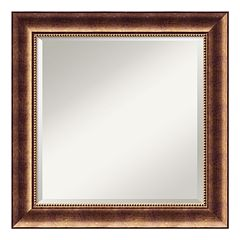 Amanti Art Manhattan Bronze Finish Traditional Wood Wall Mirror