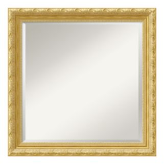 Amanti Art Versailles Gold-Tone Traditional Wood Square Wall Mirror
