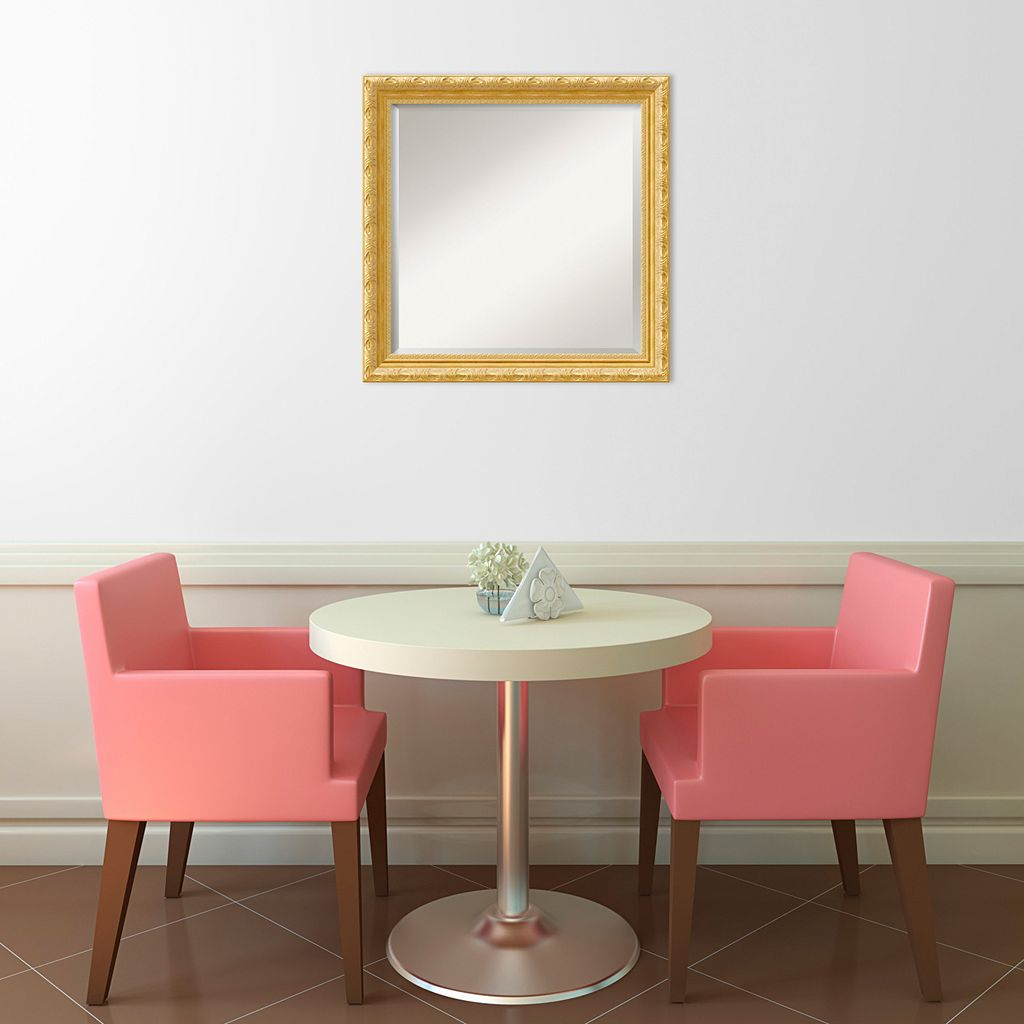 Amanti Art Versailles Gold-Tone Traditional Wood Square Wall Mirror