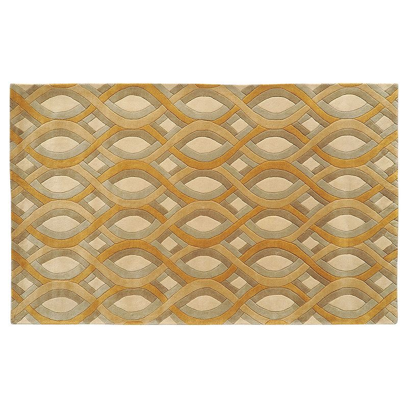 Decor 140 Modern Classics Wave Wool Rug, Beig/Green, 3X5 Ft Product Image
