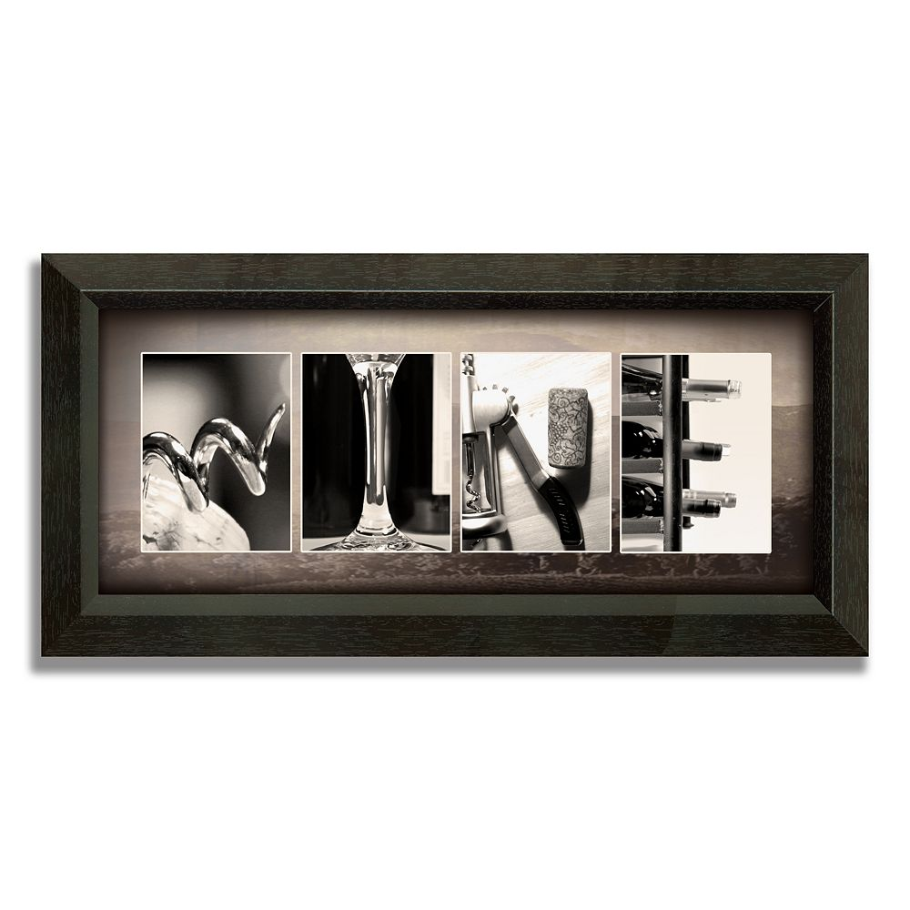 """""""Wine Letters"""" Framed Canvas Art"""