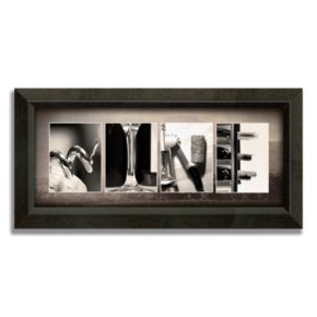 Wine Letters Framed Canvas Art