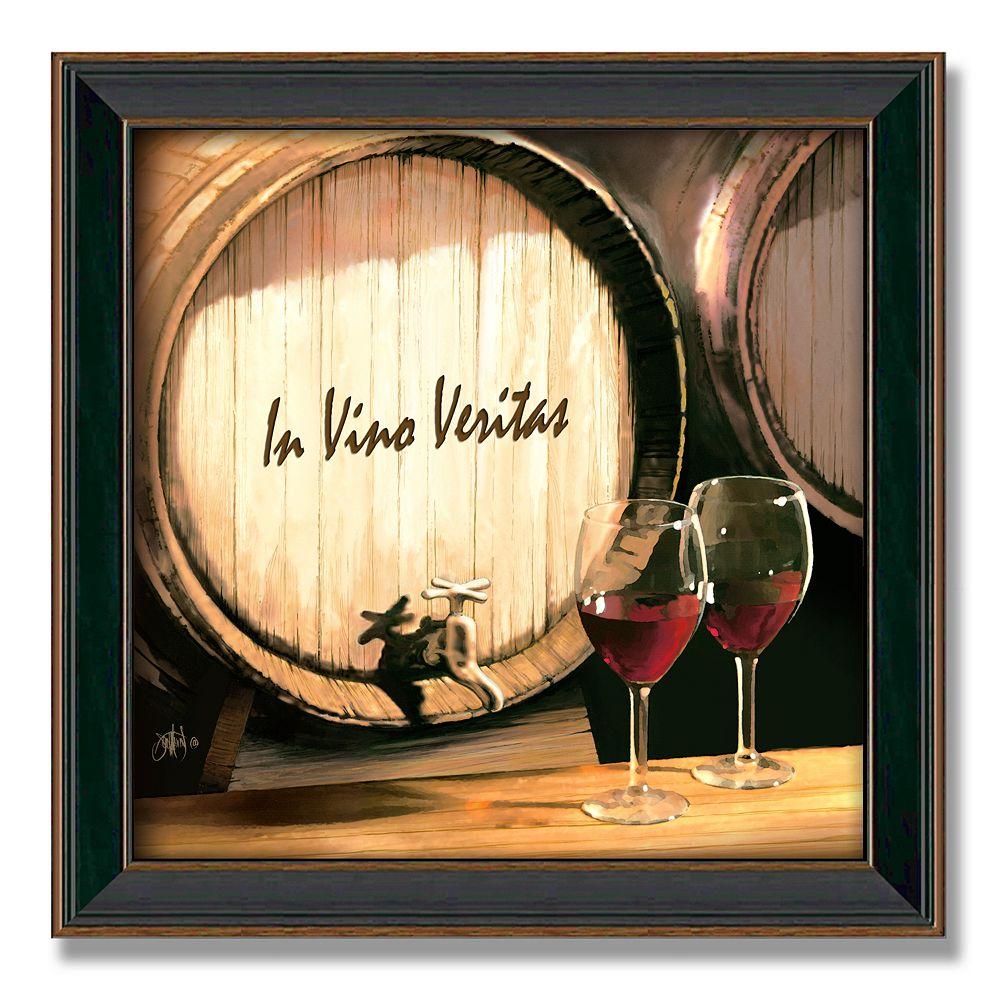 """Fine Wine"" 14"" x 14"" Framed Canvas Art"
