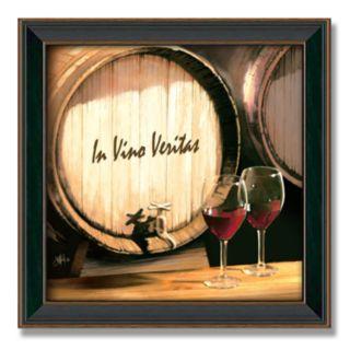 Fine Wine 14 x 14 Framed Canvas Art