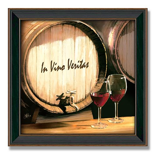 """Fine Wine"" 14"" x 14"" Framed Canvas Art"