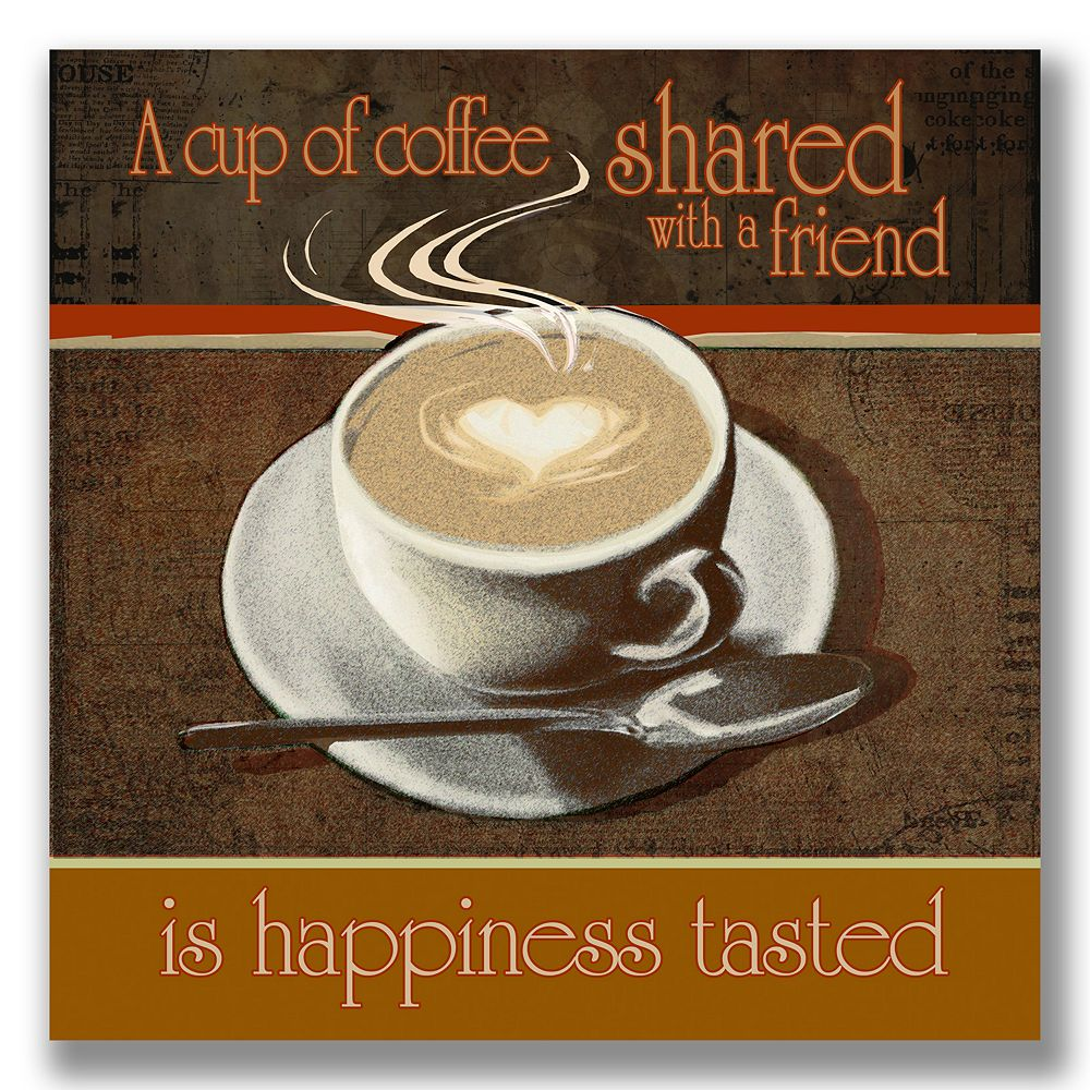 """""""Coffee with a Friend"""" Wall Art"""