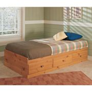 New Visions by Lane Mountain Pine Storage Twin Bed Frame