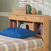 New Visions by Lane Mountain Pine Twin Bookcase Headboard
