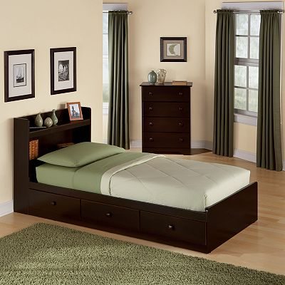 New Visions by Lane My Place My Space Storage Twin Bed Frame
