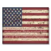 """American Flag"" Wall Art"