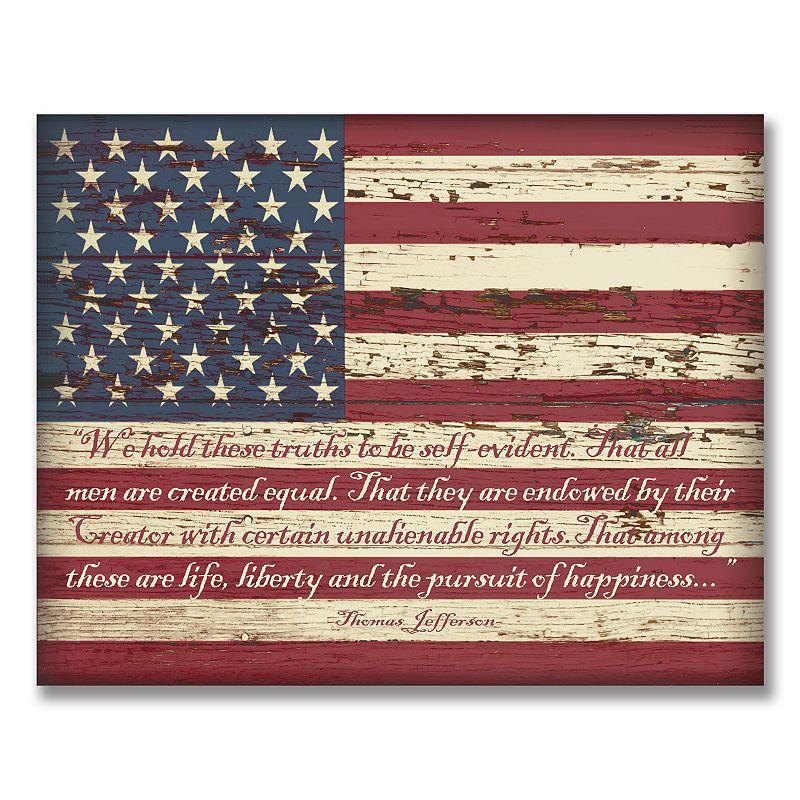 American Flag Wall Art, Multicolor