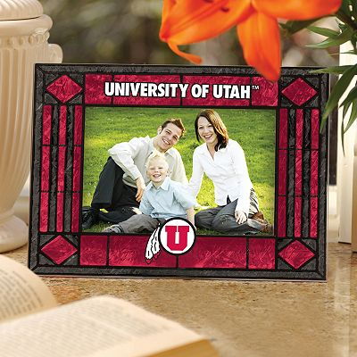 Utah Utes 4 x 6 Art Glass Picture Frame