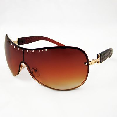 FENY Amarillo Rhinestone Rimless Shield Sunglasses