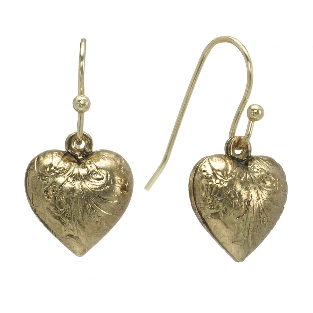 1928 Heart Drop Earrings
