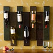 Wildrose 7-Bottle Wall-Mount Wine Rack